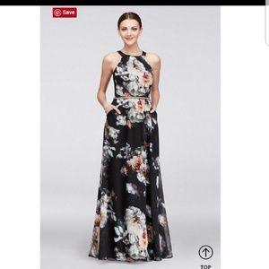 Dresses & Skirts - David's Bridal floral formal dress